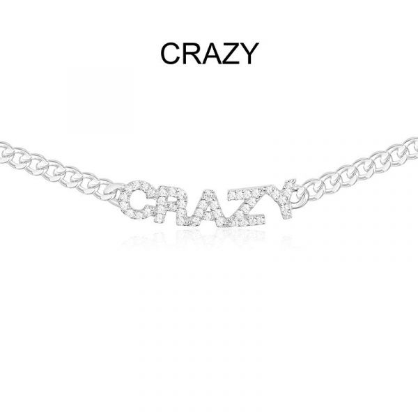 SILVER 'CRAZY' CHAIN NECKLACE