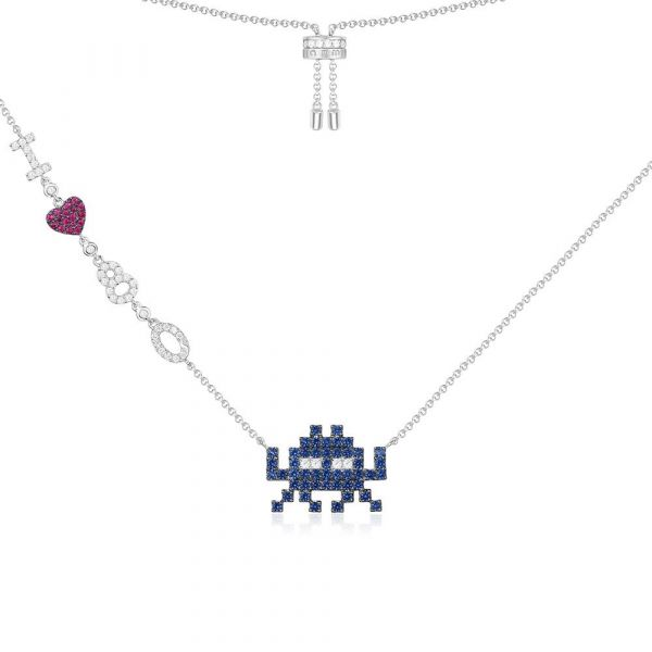 SILVER 'SPACE SHOOTER' NECKLACE